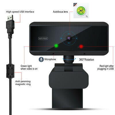 Full HD 1080P Webcams Video Web Cam Peripheral USB Camera With Microphone For PC • 25.99£