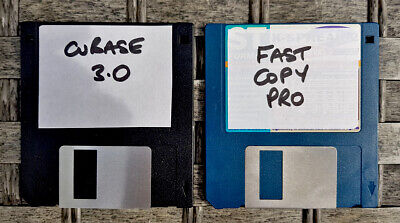 2 Atari Floppy Disks Containing Cubase 3.0 & Fast Copy Pro • 10£