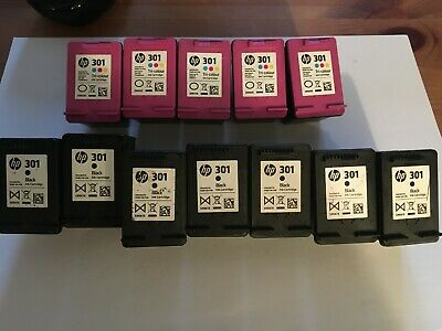 12 Genuine HP301 Empty Ink Cartridges Black And Colour • 31.05£