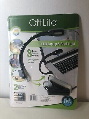OttLite LED Laptop And Book Light USB Clip On • 10£