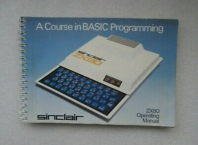 Sinclair Zx80 User Guide Operating Manual A Course In BASIC Programming Original • 34.99£