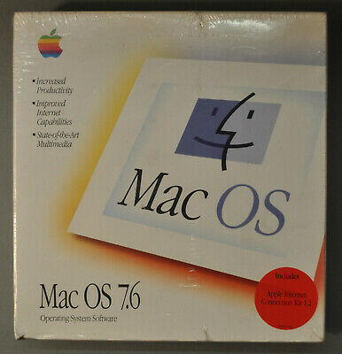 Mac OS 7.6 Operating System Software In Unopened Packaging • 21£