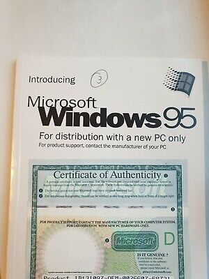 Introducing Microsoft Windows 95 Book With Serial Number • 10£
