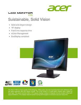 Cheap Acer 19  Flat Screen LCD Monitor TFT Ergotron Rotating Adjustable Stand • 29.99£