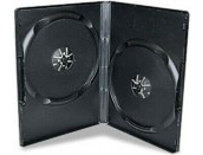 1 X Black 14mm Double DVD Case Holds 2 Discs • 1.89£