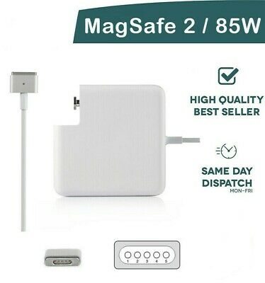 Replacement Ac Adapter 85W Magsafe 2 Power Adapter Charger For Apple MacBook Pro • 22.99£
