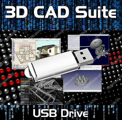 2D 3D CAD - AutoCAD DWG FILE COMPUTER AIDED SOFTWARE ENGINEERING MODELING USB • 11.99£