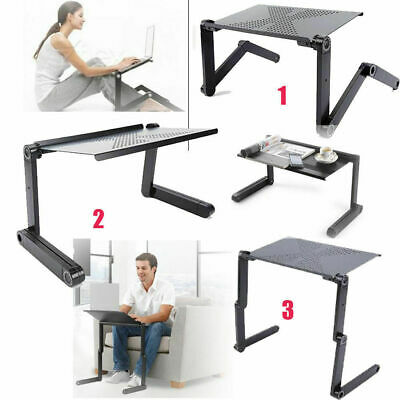 Adjustable Portable Laptop Stand Lazy Lap Sofa Bed PC Notebook Desk Table Tray • 14.99£