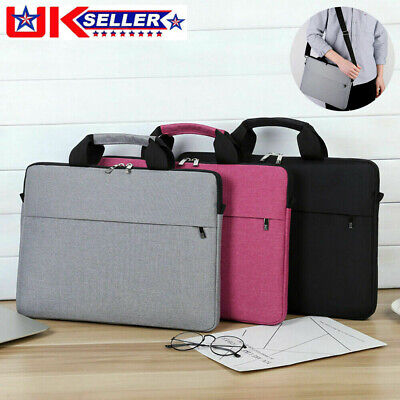 14.1 Inch Laptop PC Waterproof Shoulder Bag Carrying Soft Notebook Case Cover UK • 10.19£