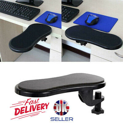 Rotatable Computer Armrest Adjustable Arm Wrist Rest Support For Home Office NEW • 7.89£