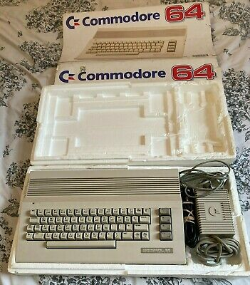 Commodore 64C Boxed With PSU And TV Cable - Superb Condition - FULLY TESTED! • 23£