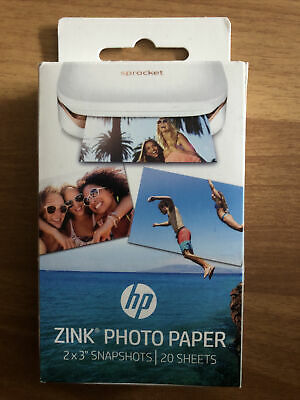 HP ZINK 50 X 76 Mm Photo Paper For HP Sprocket - 20 Sheets - Currys • 6£