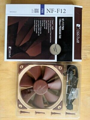 Noctua NF-F12 PWM 120mm Premium Fan With Box And Cables • 8.30£