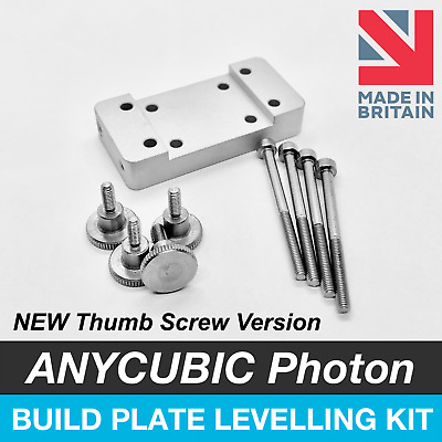 ANYCUBIC Photon S Build Plate Platform Levelling Upgrade Kit - With Thumb Screws • 27.99£