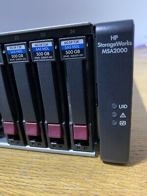 HP Storageworks MSA 2000 (AJ802A) 15 X 300Gb SAS Drives & 4 X 500Gb SAS MDL • 125£