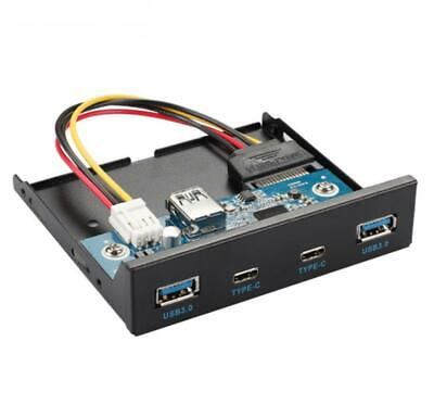 USB 3.0 2 Ports 2 * Type C 3.5 Inch Front Panel Hub With 20 Pin Connector Adapte • 29.95£