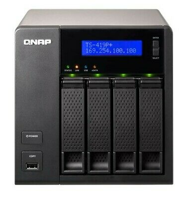 QNAP TS-419P+ NAS Populated With 8TB Comprising 4 X 2TB WD2003FYYS HDDs • 329£