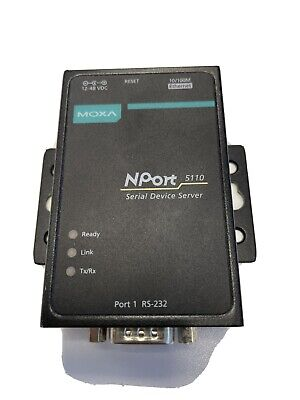 Moxa NPORT 5110 Serial Ethernet Server Device Used • 39.95£