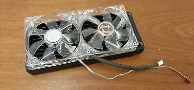 XSPC 240mm Copper Radiator With 2 Blue LED Fans • 15£