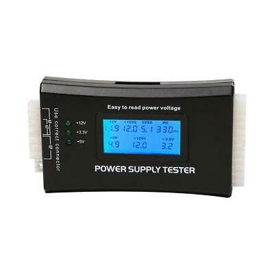 Digital LCD PC Computer Power Supply Tester Measure Tool For 20/24 Pin ATX SATA • 7.49£