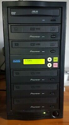 Acard 1 To 5 CD/DVD  Duplicator Standalone Tower System With Pioneer Drives • 150£