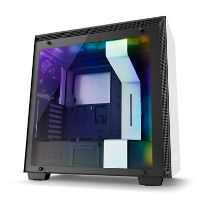 NZXT H700i - Matte White ATX Mid-Tower With RGB Lighting And Fan Control Case • 55£