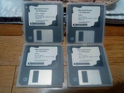 Microsoft Works For Windows - Original Floppy Discs, Tested And Working • 9.95£