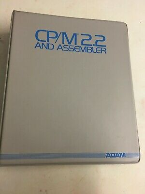 COLECO ADAM CP/M 2.2 Assembler Book Manual  - Vintage Computer Reference • 5£