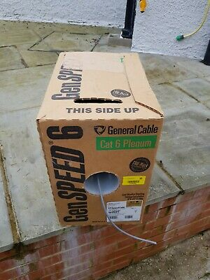 General Cable CAT 6 Plenum Data Cable Boxed Gen Speed 6 CAT Six Cable BRAND NEW • 5.50£