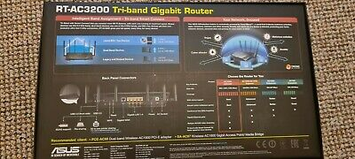 Asus RT-AC3200 Gigabit Tri-band Router Opened -Never Used • 90£