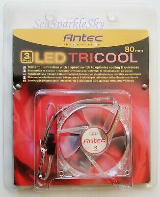 ANTEC LED TRICOOL 80mm 3 Speed Fan - RED  • 7.99£