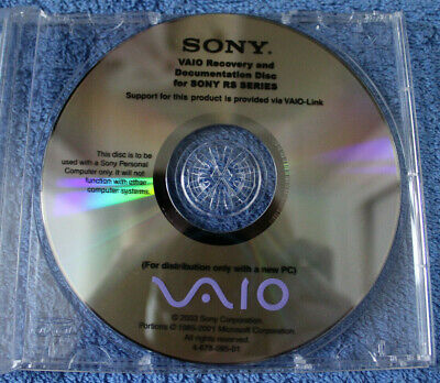 Sony Vaio Product Recovery And Documentation Disc For Sony RS Series • 4.99£