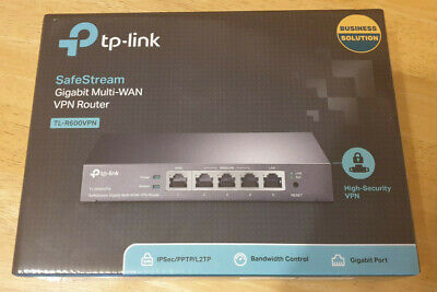 TP-Link TL-R600VPN SafeStream Gigabit Multi-WAN VPN Router - Opened Never Used • 31£