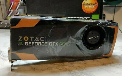 Zotac GTX 680 2GB / Mac Pro/Bootscreen/ Mojave/Catalina / Cables /free P&p • 145£