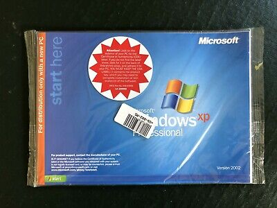 Windows XP Professional With SP1 OEM CD & Booklet • 34.99£