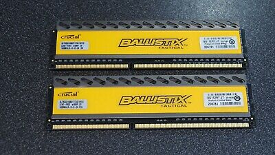 Crucial Ballistix Computer Memory 2x8Gig   1600 Mhz Taken From Working Computer • 45£