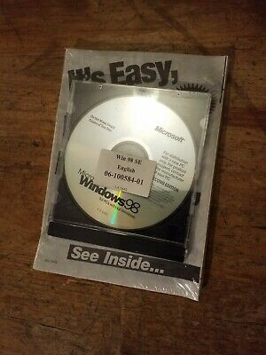 Microsoft Windows 98 Second Edition New And Sealed • 30£