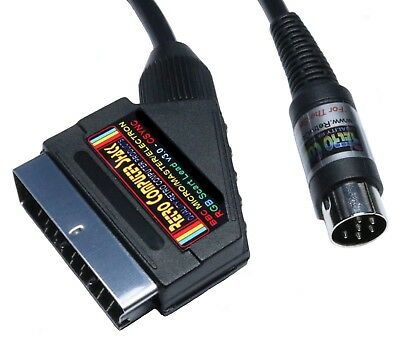 Acorn BBC B Micro, Master & Electron High Quality RGB Scart Lead Video TV Cable • 12.50£