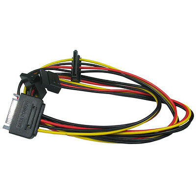 Sata Male To 3 Way Sata Female Power Connector Splitter Cable  Hard Drive HDD • 2.99£
