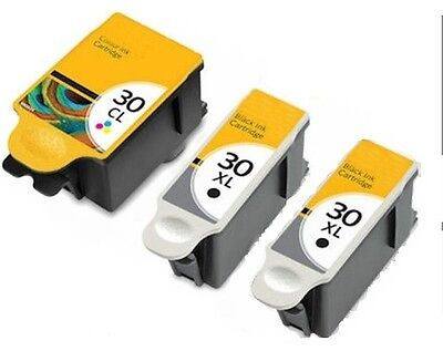 3x XL Ink For Kodak 30XL Black 30CL XL Colour Ink Cartridge For ESP 3.2 Printers • 13.99£