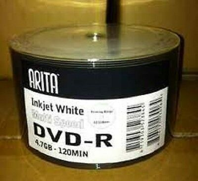 200 Arita (ritek G05) 8x Dvd-r Full Face Printable Disk Top Dye • 34.99£