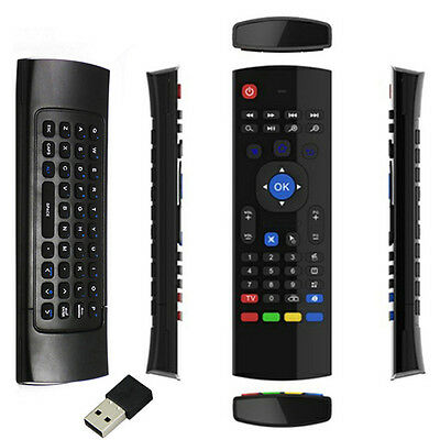 Superview 2.4GHz Fly Wireless Air Remote Qwerty Keyboard For Android Tv Boxes • 6.95£