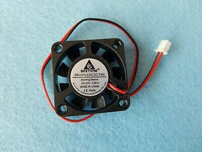 1X Gdstime Small DC Exhaust Cooling Air Flow Fan 24V 2Pin 9 Blades 40mm X10mm • 4.99£