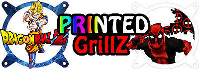 Printed Grillz - PC Fan Grill Cover Choose Your Design 120mm Custom Fan Grill • 14£