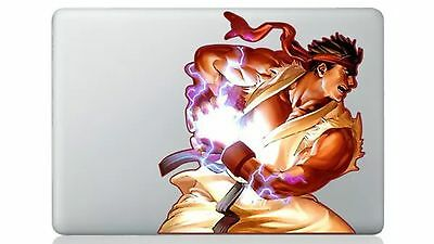 Ryu Hadouken Street Fighter Air/Pro13 Vinyl Sticker Skin Decal Cover MacBook • 6.68£