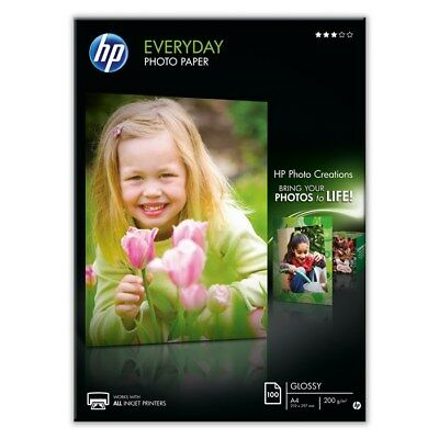 25 SHEETS X A4 GLOSSY PHOTO PAPER 200GSM WHITE PREMIUM HP EVERYDAY CHEAP INKJET • 9.99£
