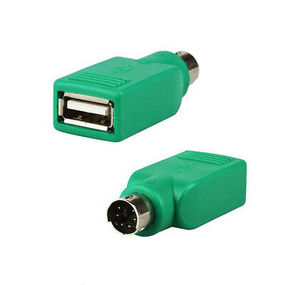 PS/2 Male To USB Female Keyboard Mouse Adapter-For Cable Lead-PS2 6 Pin Mini DIN • 2.29£