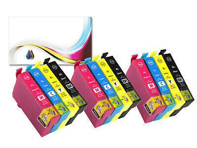 12 Ink Cartridges For Epson Expression Home XP-225 XP-322 XP-325 XP-422 XP-415 • 6.99£