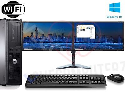 Full Dell/hp Dual Core/amd Desktop Tower Pc&tft Computer , Windows 10 &8gb 3tb • 174.99£