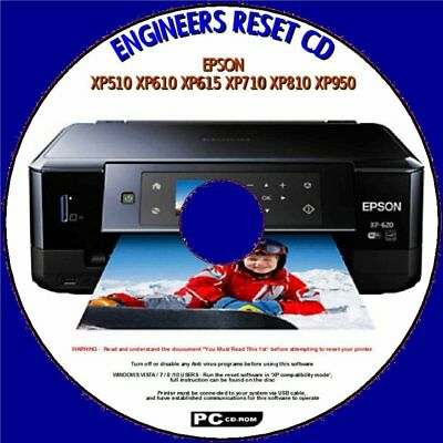 Epson Xp510,xp610,xp615,xp710,xp810,xp950 Waste Ink Pad Full/saturated Reset Cd • 3.98£